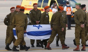 Israeli victims from the Istanbul attack arrive at Ben Gurion airport on Sunday
