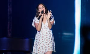 Lana Del Rey performing at Sziget festival in Budapest, Hungary, this month.