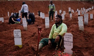 Gravediggers in Indonesia have struggled to cope with demand from Covid-19 deaths.