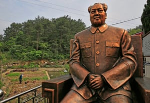 A four-metre tall statue of Mao Zedong beside farmland in Shaoshan, Hunan province, in 2016.