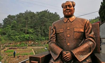 A Mao Zedong statue in Shaoshan in Hunan province