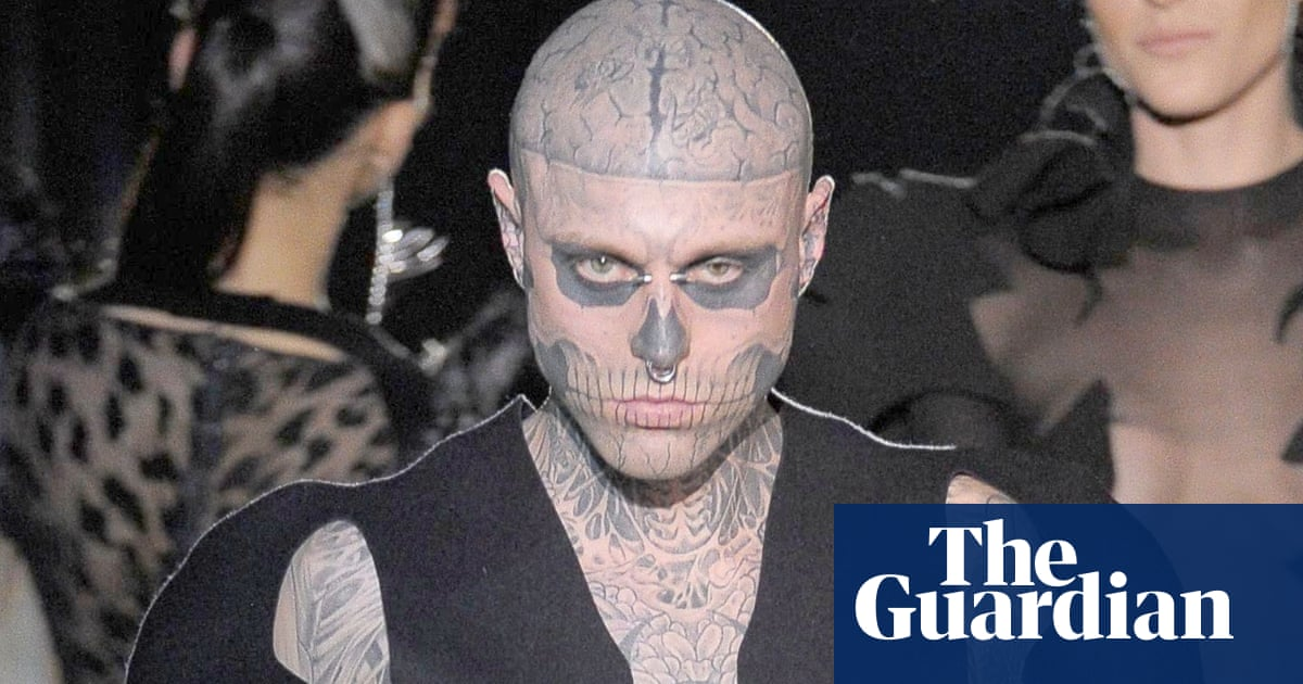 d7589f97ddddf 'Zombie Boy' Rick Genest, tattooed muse to Lady Gaga, dies aged 32. This  article is ...