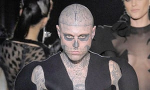 Zombie Boy modelling for Thierry Mugler in 2011.