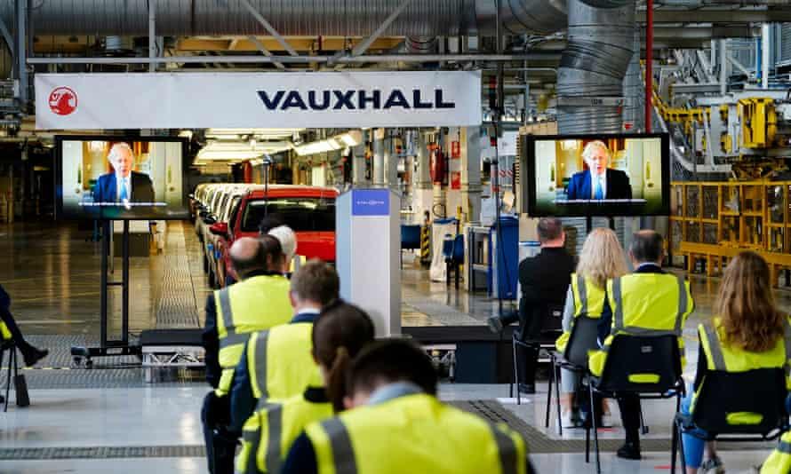 Vauxhall's plant in Ellesmere Port, Cheshire, where carmaker Stellantis plans to manufacture electric vans.