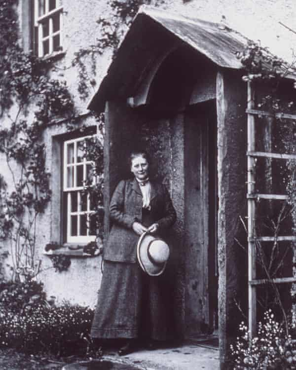Beatrix Potter at her farm Hill Top in the Lake District.