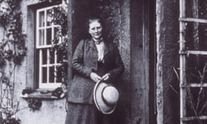 Beatrix Potter at her farm, Hill Top, in the Lake District in 1913