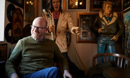 Paul Nuttall in a cafe in Hanley during the campaign for the the Stoke Central byelection.