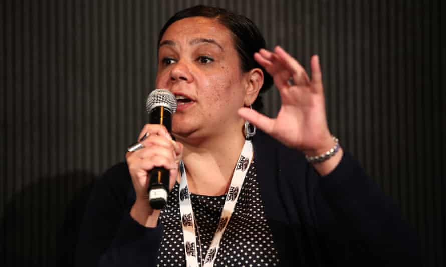 Penny Smallacombe speaks during a panel discussion at the Power of Inclusion Summit in Auckland in 2019