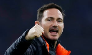 Frank Lampard celebrates after Chelsea's victory over Ajax in the Europa League, their sixth straight win in all competitions.