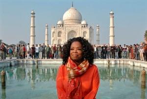 Oprah Winfrey poses in January 2012
