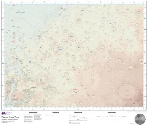 The map covers 3.8m sq miles of Mars' surface.