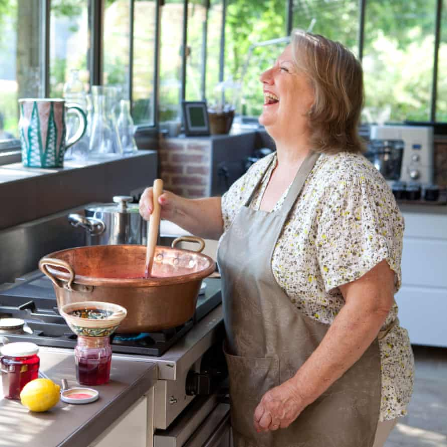 Marie-Eugénie cooks gourmet meals at her guesthouse.