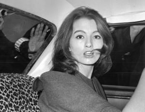 July 22, 1963 Christine Keeler, a principal witnesses in the vice charges case against osteopath Dr. Stephen Ward.