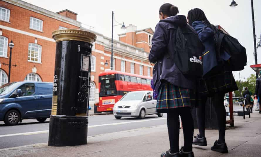A postbox honouring black Britons