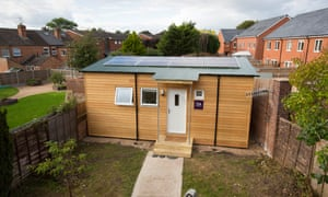 The first iKozie 'micro home' built by the Homeless Foundation in the back garden of a house in Worcester.