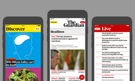 The Guardian app: new features