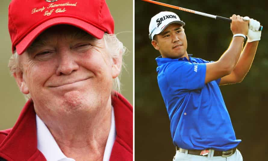 US president Donald Trump and Japanese professional golfer Hideki Matsuyama. The two are to play a round of golf together during the president's Asia tour.