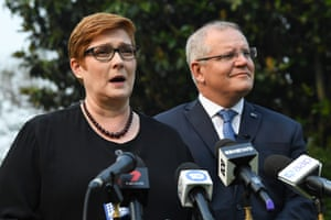The foreign affairs minister, Marise Payne, pictured with prime minister Scott Morrison, is part of the Jones in-crowd.
