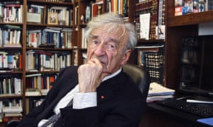 Elie Wiesel in his office in New York, 2012