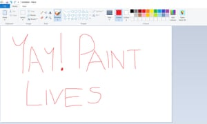 Microsoft Paint remains after an outpouring of affection from fans.