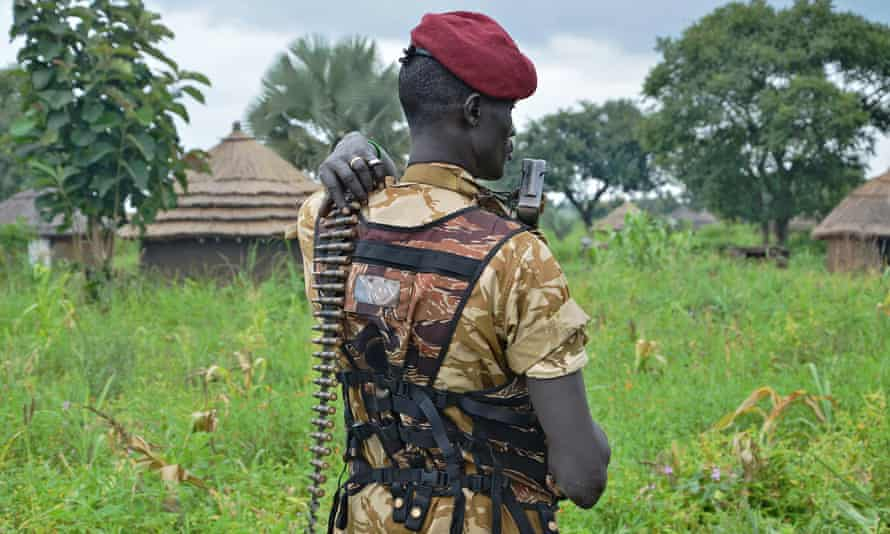 A member of the SPLA