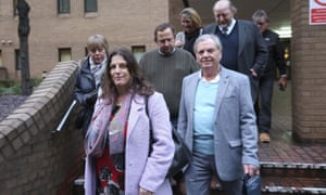 Victims of the HBOS scam leaving Southwark crown court in February after six bankers who carried out a £245m loans scam were jailed