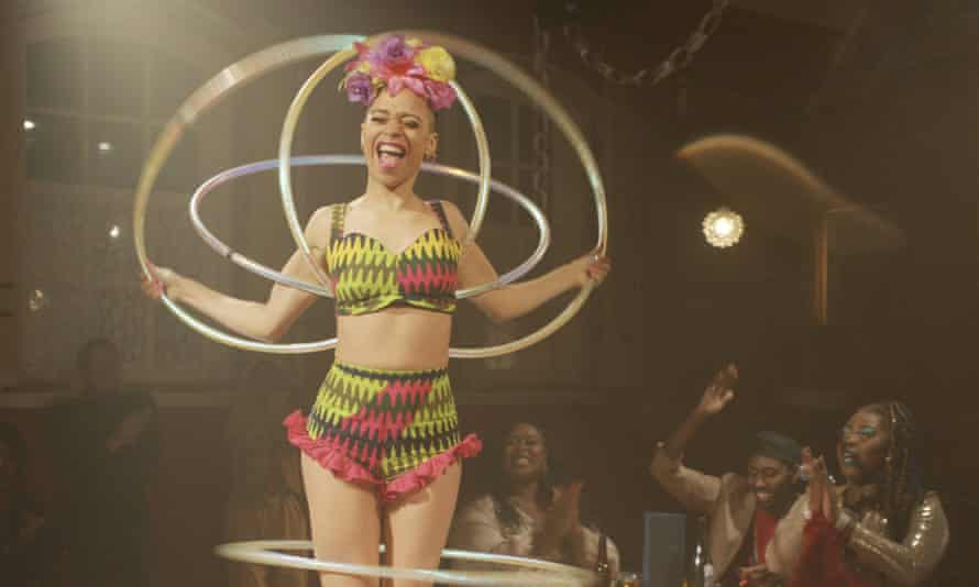 Amazí from the Cocoa Butter Club performs as part of Live The Way Out, Battersea Arts Centre's onetake film of an 'immersive theatrical adventure' in April, which can still be seen on BBC iPlayer.