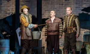 Nicholas Lyndhurst, Peter Polycarpou and Kelsey Grammer in Man of La Mancha.