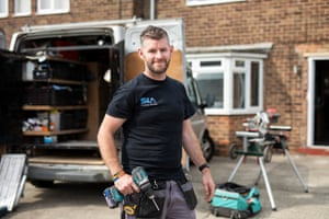 Pictured is Dan Harris who owns and runs SIA Property Services in Sutton in Ashfield. Dan is pictured on site. Photo by Fabio De Paola