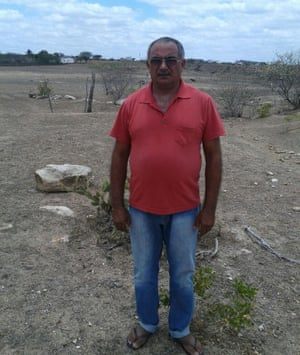 Sival Lima de Jesus, a farmer in Poço Redondo, which has suffered drought for five years.