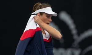 British No1 Johanna Konta leaves the court in Sydney after deciding not to aggravate a neck injury in her buildup to the Australian Open.