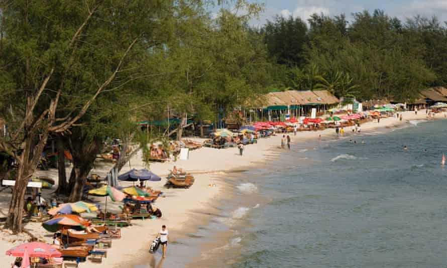 Sihanoukville in Cambodia. Robert Wells's mother, Collette, says her son phoned her on Boxing Day to say he got married.