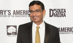 Dinesh D'Souza was recently granted a shock full pardon for being 'treated very unfairly' by the government, Donald Trump said.