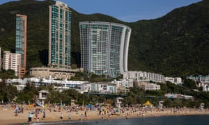 each goers crowd Repulse Bay beach in Hong Kong, China, 12 April 2020.