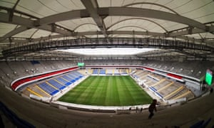 A view of Rostov Arena under construction.