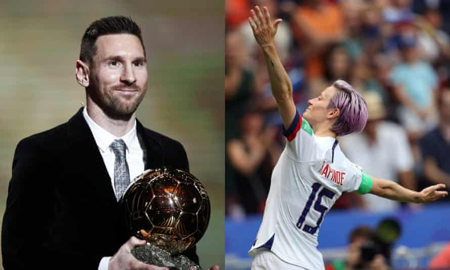 Lionel Messi and Megan Rapinoe were the night's big winners at the Ballon d'Or 2019.
