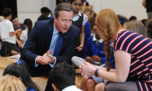 David Cameron followed the cabinet meeting by visiting pupils at the Reach Academy in Feltham.
