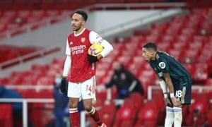 Pierre-Emerick Aubameyang gets the match ball.