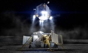 Artist's impression of the Boeing lunar lander concept