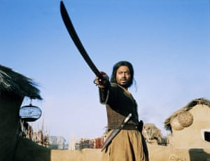 Khan starred in Asif Kapadia's debut feature, The Warrior (2001)