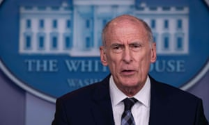 Dan Coats speaks during a press briefing at the White House last year.