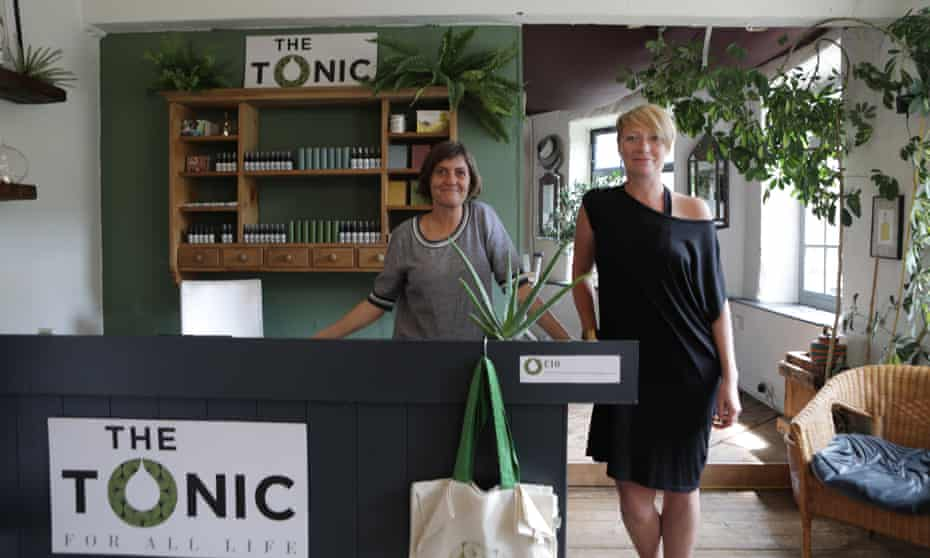 Kate Henderson, left, and Michelle Oxley, directors of The Tonic in Hebdon Bridge.