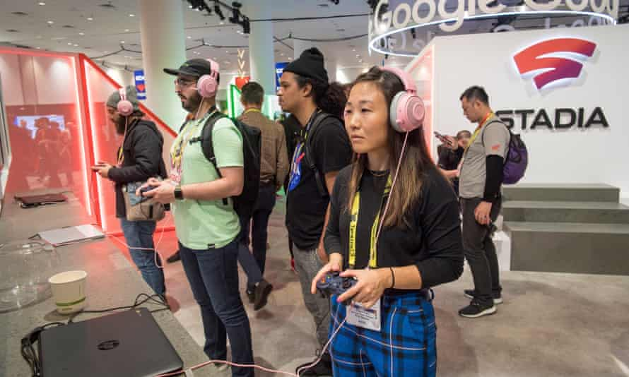 The 2019 Game Developers Conference in San Francisco … game makers and executives make backroom deals while attendees enjoy the show.