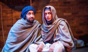 Asif Khan (Hussain) and Skye Hallam (Zamurrud) in Paradise of the Assassins.