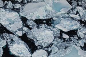 Floating ice on the edge of Fram strait.