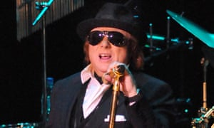 Van Morrison performing at the Royal Albert Hall, London, on 18 April 2009.