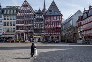 The historical market square of Römerberg, Frankfurt's main tourist spot