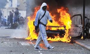 Rioting in Hackney 8 August 2011.