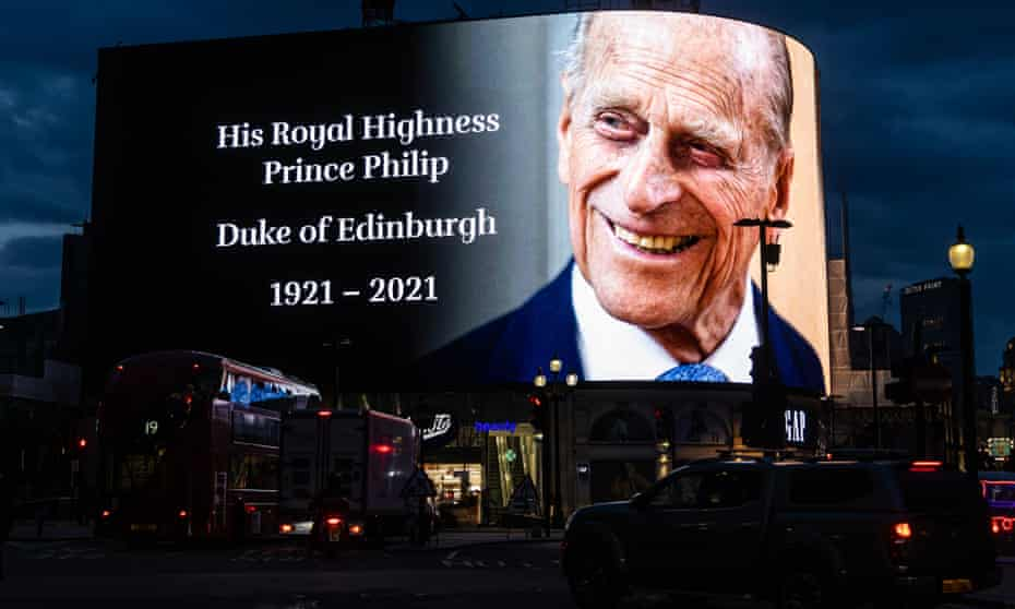 Prince Philip tribute on video screen