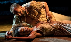 Ralph Fiennes and Sophie Okonedo as Antony and Cleopatra.